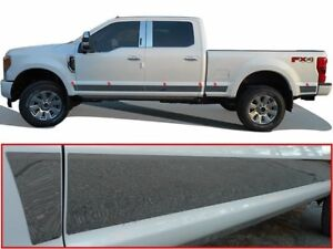 12PC-Stainless-Steel-Rocker-Panel-Trim-Upper-TH57324-FORD-F250-F350-2017-2019