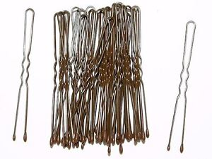 4-5cm-Short-Brown-Waved-Hair-Pins-Bobby-Pins-Grips-Hair-Accessories