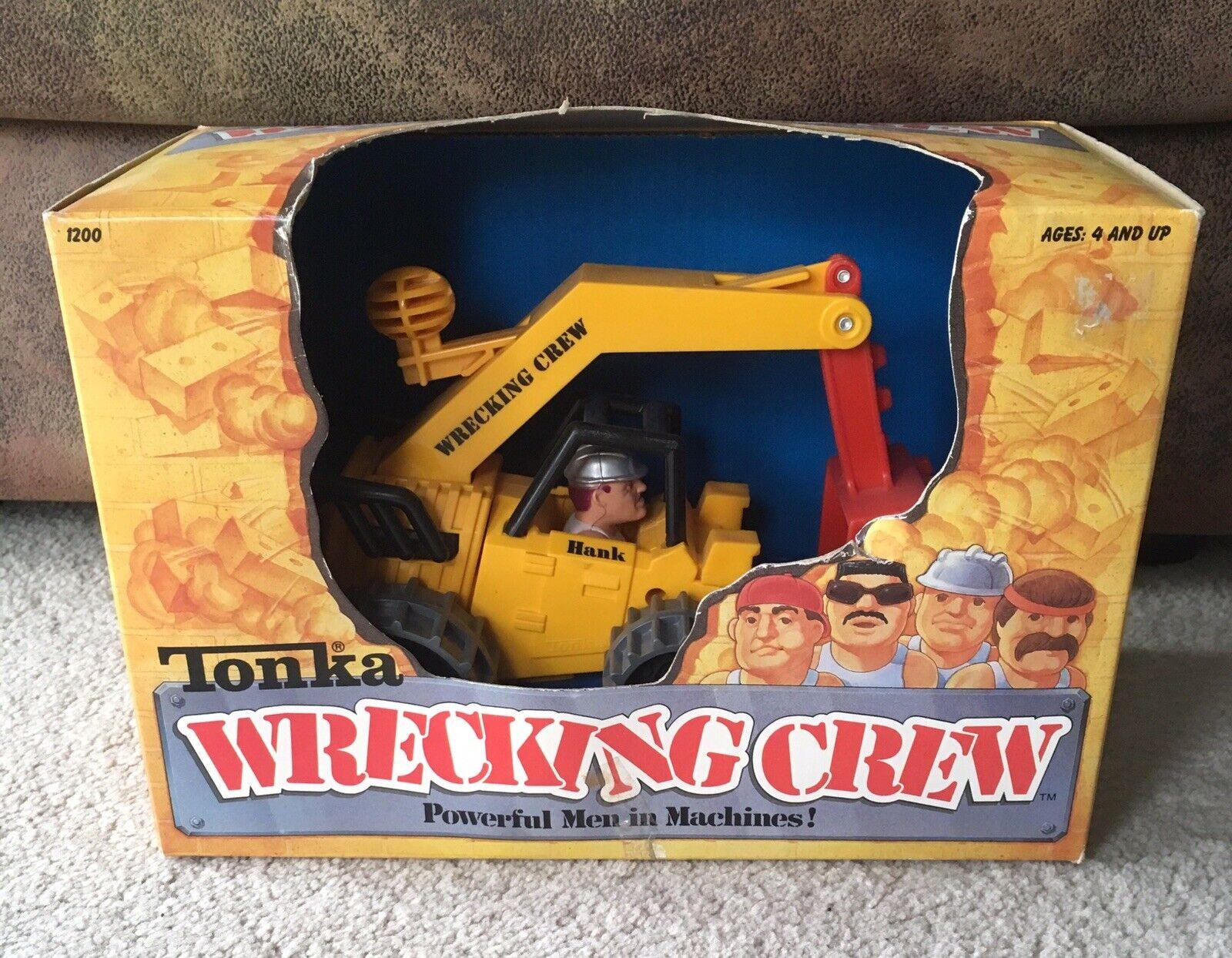 Vintage Tonka Wrecking Crew Hammer Hank With Backhoe In Original Box 1988