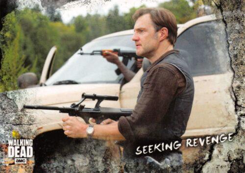 SEEKING REVENGE Walking Dead Road To Alexandria BASE Trading Card #42