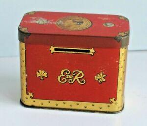 Vintage Collectable OXO Cube Tin ER Edward VIII Commemorative 1936 Money Box