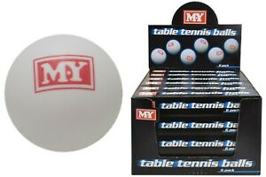 Genuine-M-Y-Table-Tennis-Balls-Ping-Pong-White-Sports-Games-Fun-Toy-BUY-BULK