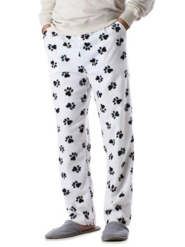 Mens Pajama Pants Animal Knit Fleece Lounge PJ Lounge Bottom with Pockets