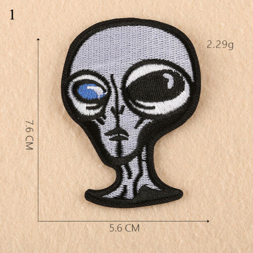 Hot Sale Embroidery DIY Cloth Stickers Factory Direct Taro Alien Patch Stickers