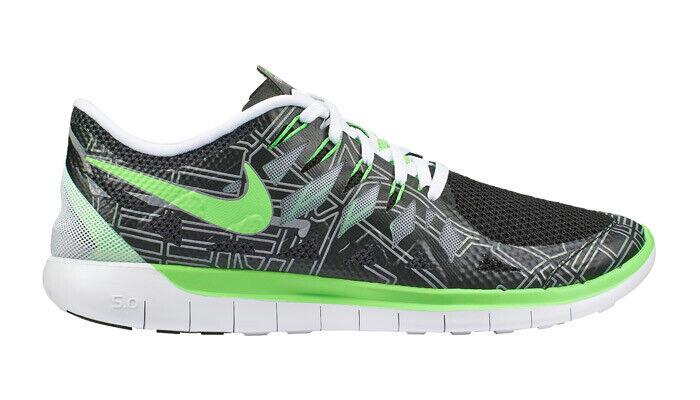Nike Men's Free 5.0 Boston - Black Electric-Green-White Silver (694108-003)