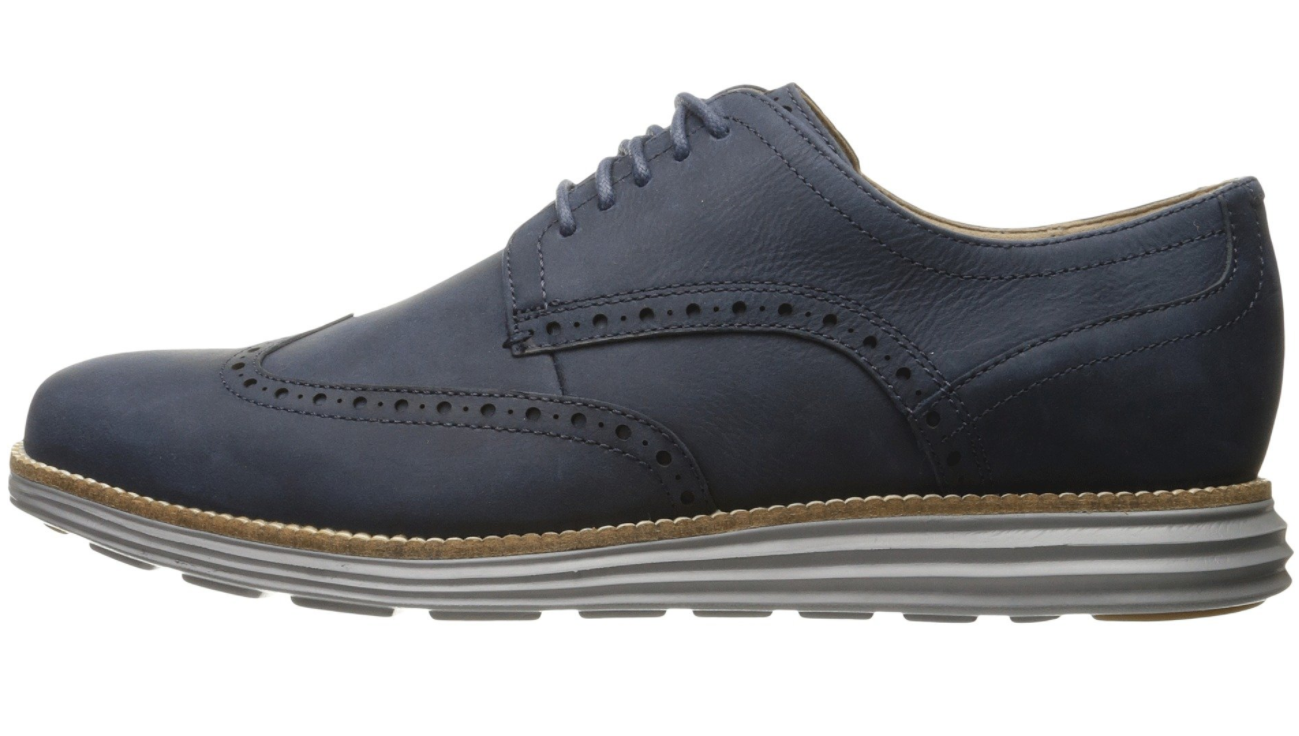 buona qualità Cole Haan Haan Haan Uomo Navy blu Leather Original Grand Shortwing Oxfords 6452 Sz 7 M  offrendo il 100%