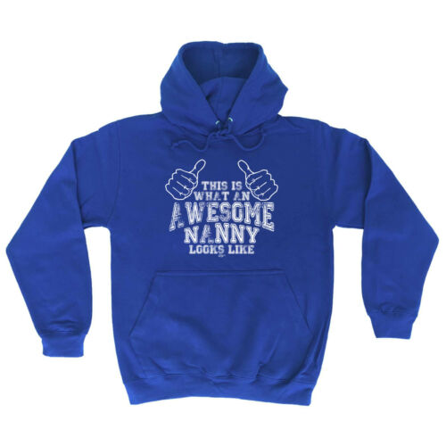 Awesome Nanny Funny Novelty Hoodie Hoody hooded Top