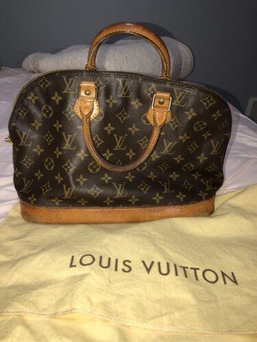 Louis Vuitton Alma Handbag Authentic With Dust Bag