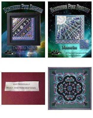 Linda Lachance Design Northern Pine Celtic Heart Canvaswork Chart /& Heart Charm