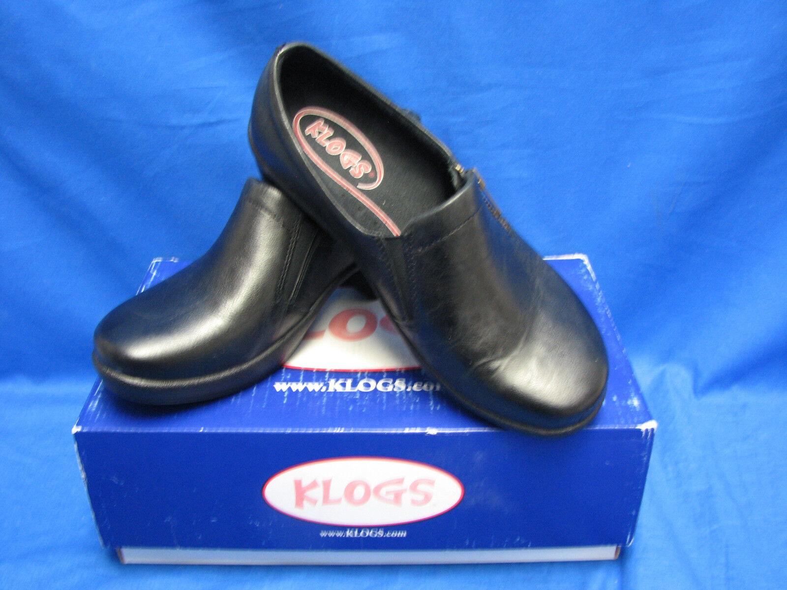 Klogs para mujer Confort Slip Ons Mocasines Negro Grano Grano Grano 8 de ancho  mejor servicio