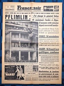 La-Une-Du-Journal-France-Soir-15-Mai-1958-Le-13-Mai
