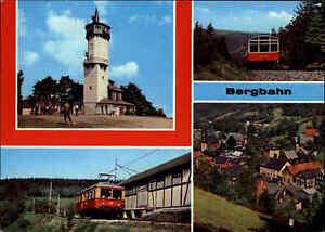 Transport-amp-Verkehr-BERGBAHN-Oberweissbach-Thueringen-DDR-Postkarte-Mehrbildkarte