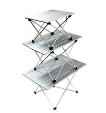 Aluminum Roll Up Table Folding Camping Outdoor Indoor Picnic w/ Bag Heavy Duty#