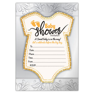 Baby Shower Invitations 20 Unie Or