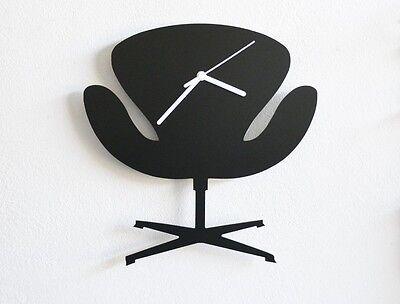 Arne Jacobsen Swan Armchair Silhouette - Wall Clock