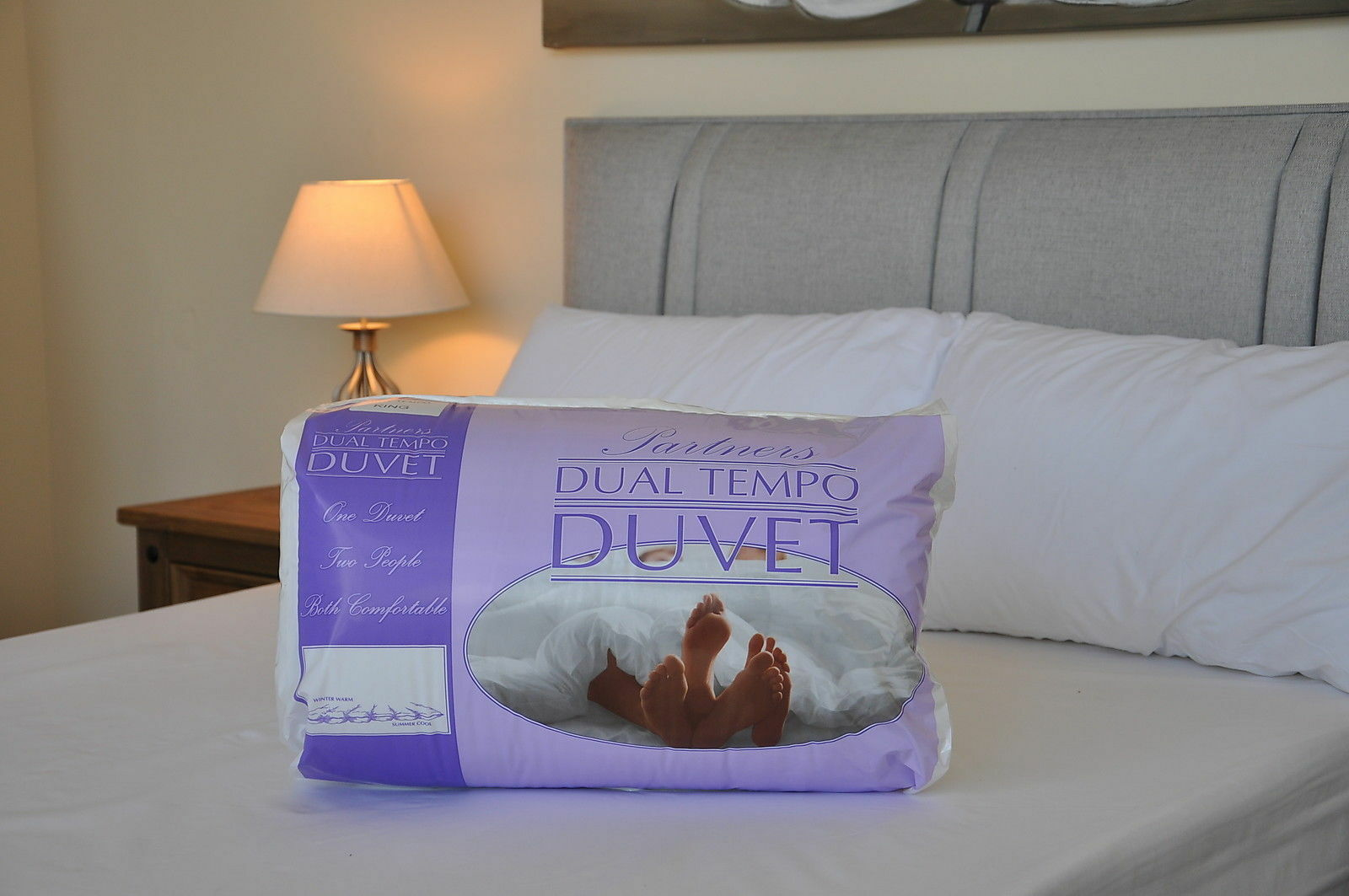 Premium Quality His And Hers Partners  Duvet 4.5 and 9 Tog  Dual Tempo Duvet