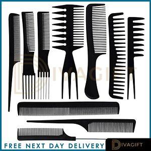 10-x-SALON-COMB-HAIRDRESSING-PLASTIC-WIDE-TOOTH-DETANGLER-HAIR-BRUSH-COMBS-SET