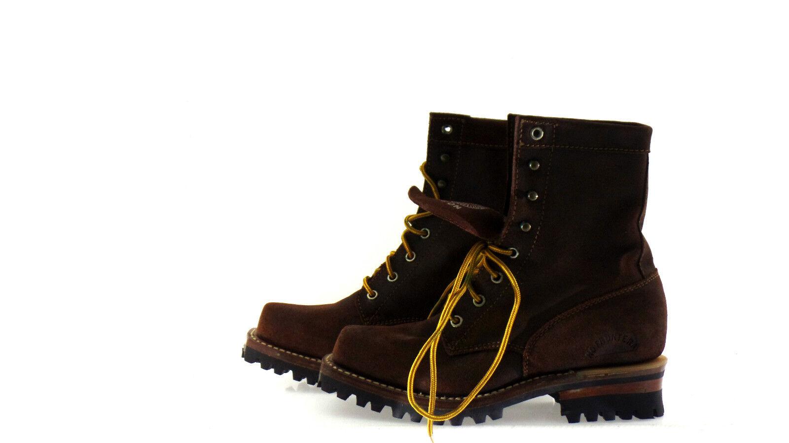 Westernstiefelette laborales vaquero Boot 42 marrón con cordones méxico nuevo...