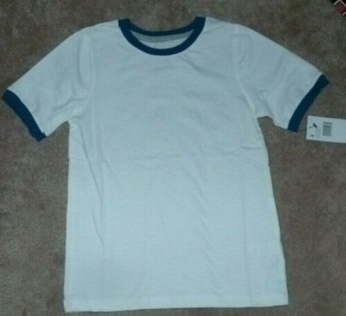 NEW FRENCH TOAST Classic Ringer T Shirt Youth Boys S Small 8 White w// Blue NWT