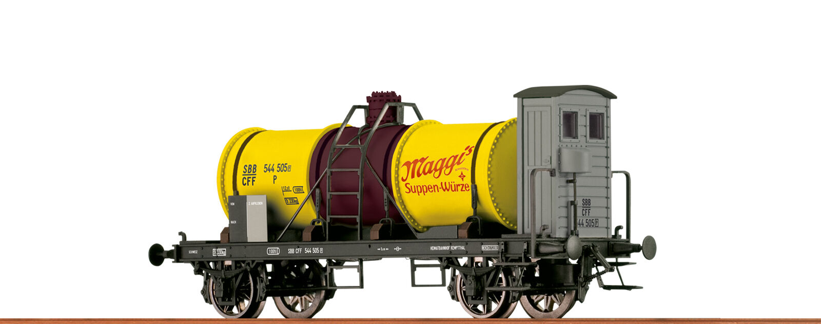 Brawa 47858 gauge H0 Tank Wagon Z [P] SBB , III Maggi
