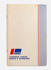 VTG 1969 Piper Cherokee Arrow Owners pilots manual handbook