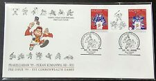 1995 Malaysia Pre-Issue XVI Commonwealth Games FDC (error info sheet) Melaka (A)