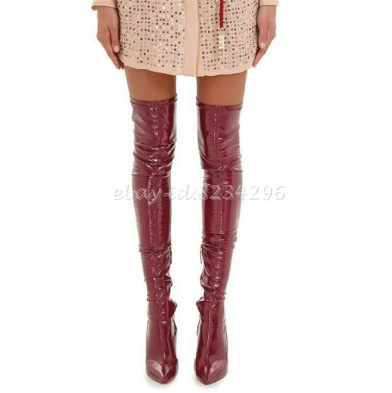 Thigh High Sexy Womens shoes Stiletto Heel Boots Overknee Europe Boots Pointed