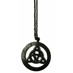 Triquetra-Trinity-Celtic-Pagan-Symbol-Black-Wall-Hanging-Plaque