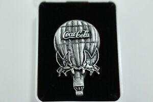 Coca Cola Kentucky Derby Pewter Lapel Pin Pegasus Balloon Race CPI Cincinnati