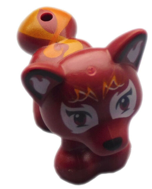 41074 New Lego Elves MiniFigure Animal FLAMY the Dark Red Fox