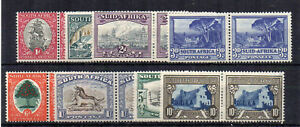 South-Africa-1933-48-values-to-10s-horizontal-pairs-MLH