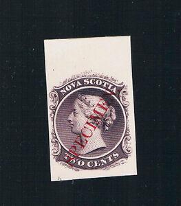 """1860 DIE PROOF on Card-NOVA SCOTIA-Queen Victoria-""""SPECIMEN"""" Mint,No Hinge"""