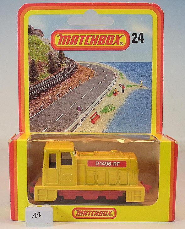 MATCHBOX SUPERFAST nº 24 DIESEL SHUNTER jaune allemande Hösbach neuf dans sa boîte  012