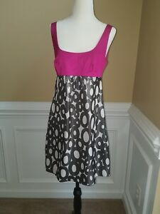 601efdbb7ed Trina Turk Empire Dress Size 4 Pink, Silver And White Style 270532 ...