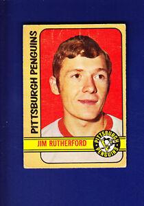 Jim-Rutherford-RC-1972-73-O-PEE-CHEE-OPC-Hockey-VG-15-Pittsburgh-Penguins