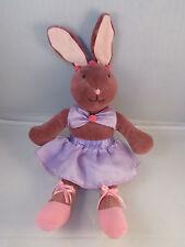"Manhattan Toys Bunny Rabbit Ballet Ballerina Plush 9"" To top of Head 2001"