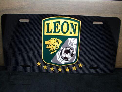 CLUB LEON METAL ALUMINUM LICENSE PLATE FOR CARS MEXICO MX FOOTBALL  MX SOCCER.
