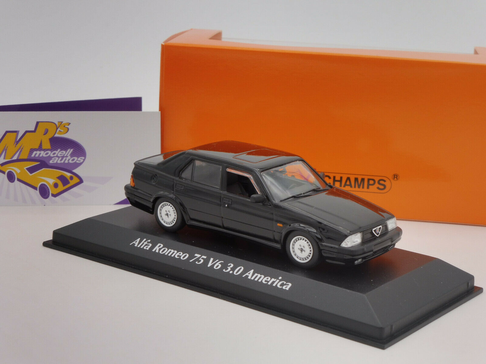 Maxichamps 940120460 Alfa Romeo 75 V6 3.0 America Bj. 1987 in   black   1 43