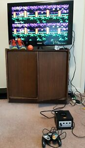 Nintendo GameCube black Console w/ Cables 1  Controller game cube works
