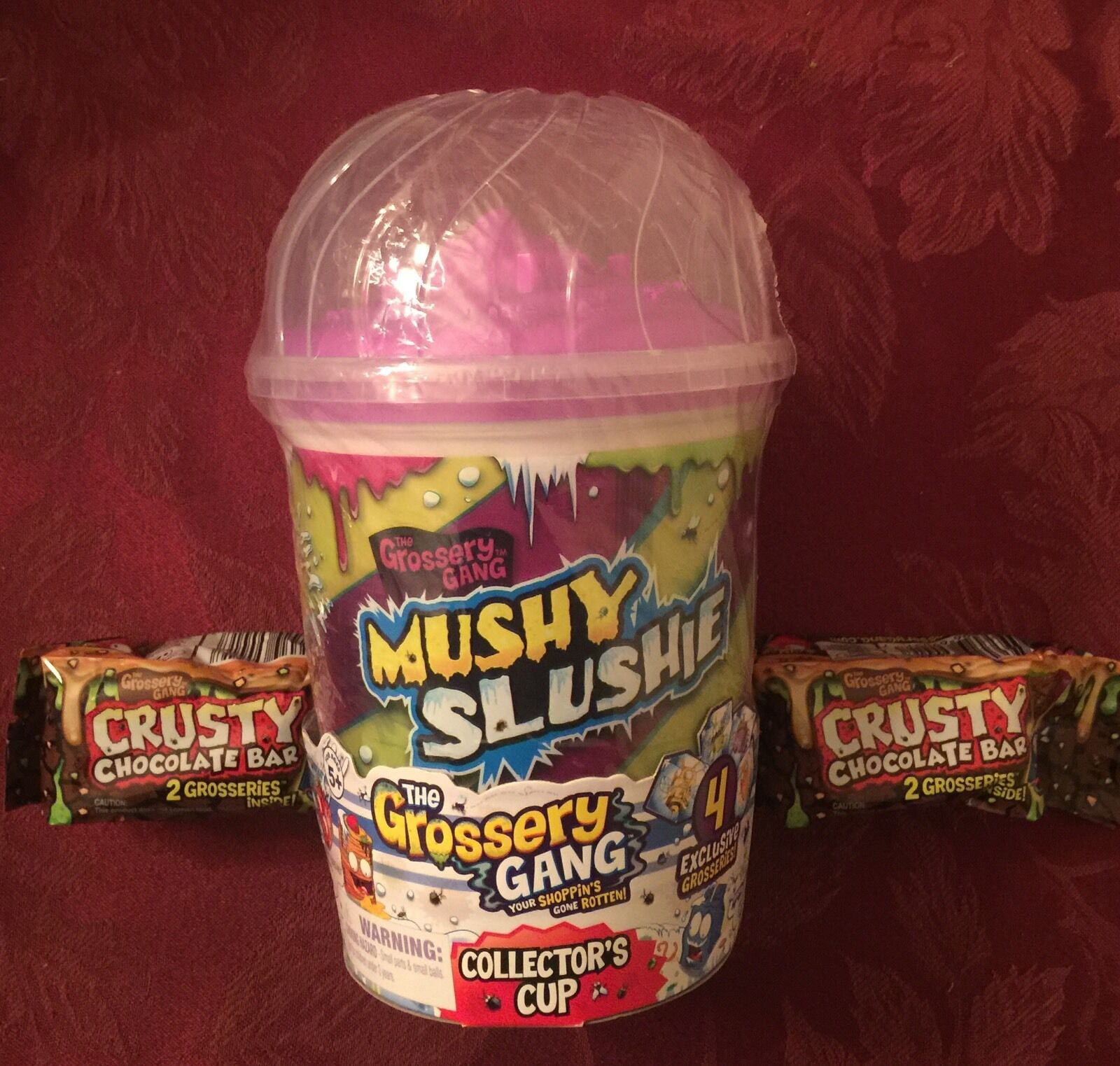 Grossery Gang MUSHY SLUSHIE Collector's Cup 4 Exclusive Grosseries And And And 2 Choc BB 7d0b48