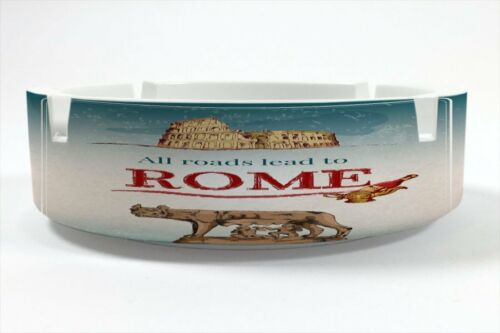 Ashtray Wanderlust City Rome printed