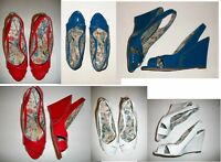 Sizes 7-10 - Anne Michelle Open-toe Wedge Sandals
