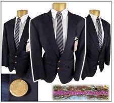 "M&S St Michael Wool & Cashmere Mans Blazer Jacket Chest 40"" Navy military style"