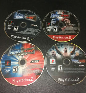 Rare-WWE-SmackDown-vs-Raw-2006-2007-2011-PlayStation-PS2-Wrestling-Lot-Disc-Only
