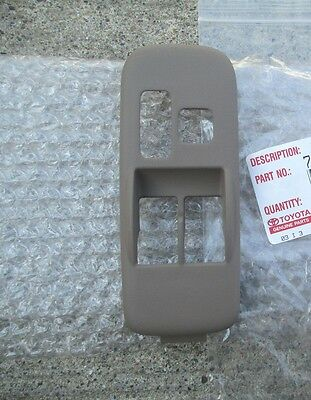 98-03 TOYOTA SIENNA DRIVER LEFT MASTER WINDOW SWITCH TRIM BEZEL GRAY OEM NEW