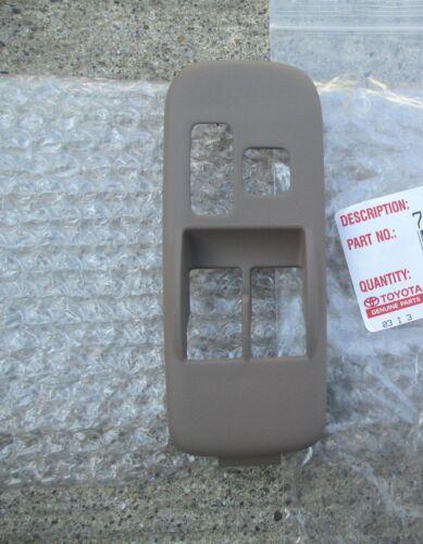 98-03 TOYOTA SIENNA DRIVER MASTER POWER WINDOW SWITCH TRIM BEZEL TAN OEM NEW