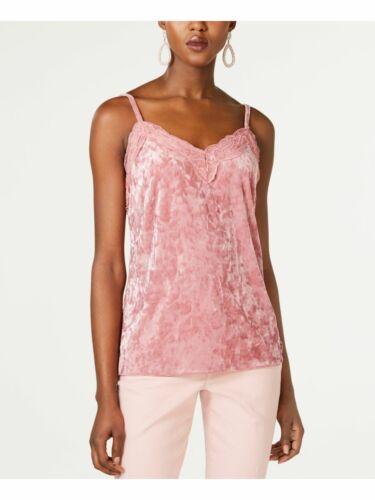 Terciopelo rosa para mujer Inc /& Lace Camisola espaguetis correa cuello en V Top L