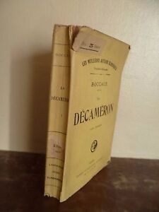 J.Boccage Il Decameron Volume 1ER Flammarion Parigi S.D IN 12 Spilla Be