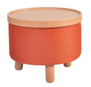 Couchtisch Beistelltisch Sitz Fuß Hocker Molde Tablett abnehmbar Teracotta 50cm