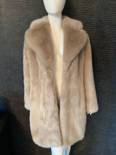 14 Womans Petit Vison Avec en 8 Manteau Per synthétique Medium Una étiquettes fourrure 12 Nouveau aqOw87q